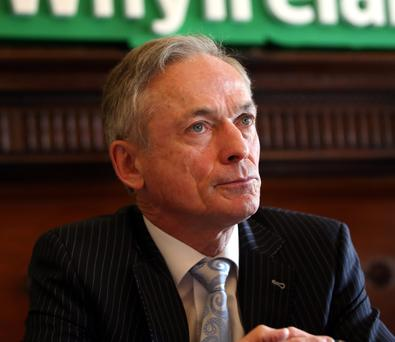 Jobs Minister Richard Bruton at the announcement of 185 new posts to be created in Dublin and Wexford