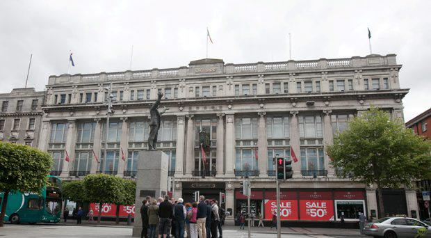 Clerys Department store which has closed for business on O' Connell Street, Dublin
