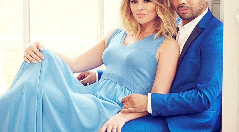 Kimberley Walsh and Justin Scott who appear in this week's edition of Hello! Magazine.