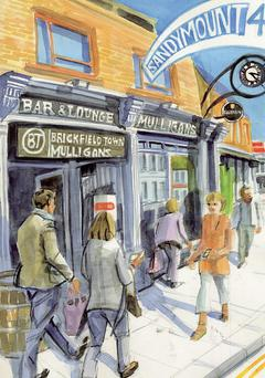 Brickfield Town at Mullingan's, Sandymount. Illustration: Eorna Walton