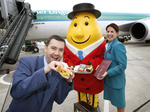 Aer Lingus says its new Tayto crisp sandwich has proven to be a real hit with guests. Pic. Robbie Reynolds