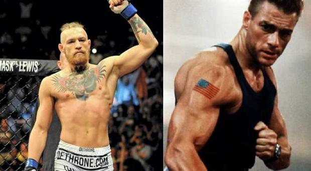 Conor McGregor and Jean Claude Van Damme