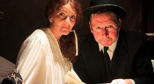 Elaine Reddy, from Fairview, Dublin, as Molly Bloom and Les Doherty, from Donnycarney, as Leopold Bloom during Bloomsday celebrations at the James Joyce Centre in Dublin last year. Photo: Gareth Chaney, Collins
