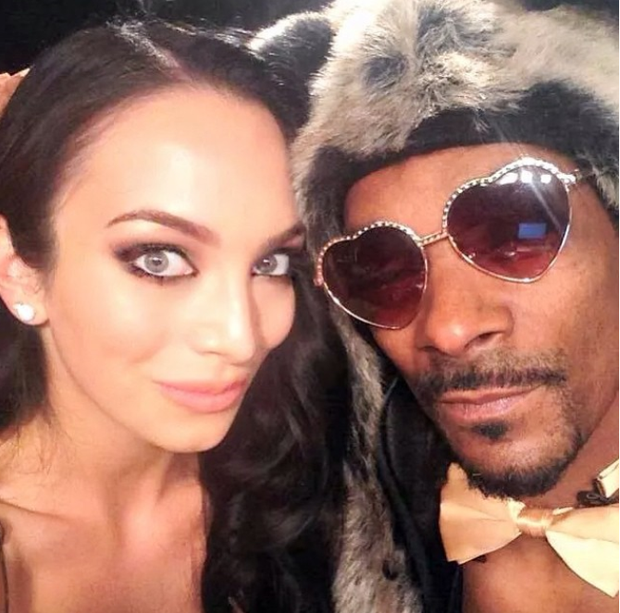 Shahira pictured with rapper Snoop Dogg in 2015