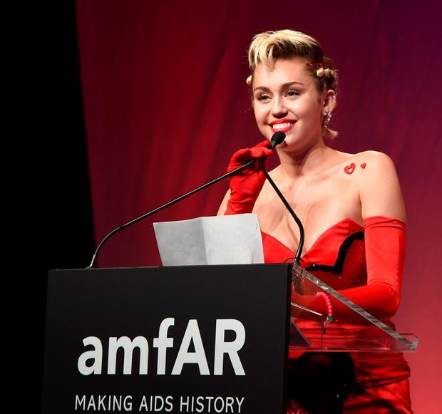 NEW YORK, NY - JUNE 16: Miley Cyrus attends Moet & Chandon Toasts to the amfAR Inspiration Gala at Spring Studios on June 16, 2015 in New York City. (Photo by Jamie McCarthy/Getty Images for Moet & Chandon)