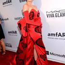Miley Cyrus attends the 6th Annual amfAR New York Inspiration Gala at Spring Studios on Tuesday, June 16, 2015, in New York.