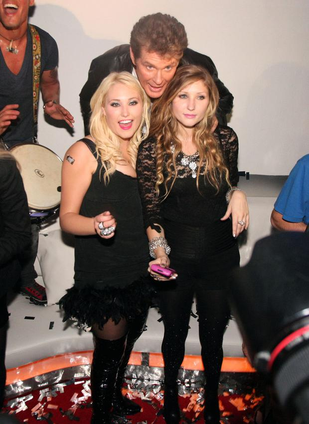 David Hasselhoff performs in Germany to a sold out crowd at the Diamond Room on August 29, 2010. David was joined by daughters Taylor Ann Hasselhoff and Hayley Amber Hasselhoff