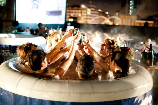 A hot-tub cinema in the UK which inspired an Irish strain of events
