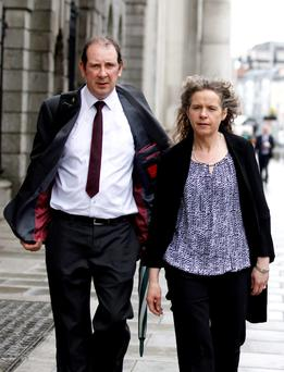 Pat and Margaret Beirne of Mullingar, Co Westmeath at the High Court (PIC: COURTPIX.)
