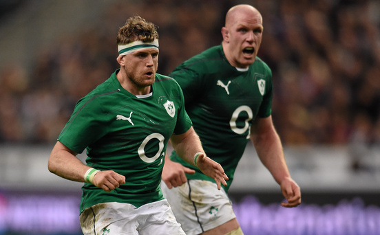 Jamie Heaslip and Paul O'Connell in action for Ireland. The Leinster number 8 expects big hype when O'Connell lines up for Toulon against the Irish province in the pool stages of next season's Champions Cup