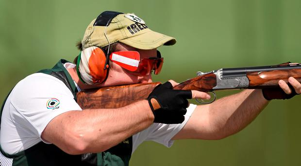 Derek Burnett missed out on the semi-finals of the shooting trap section of the European Games by just two points