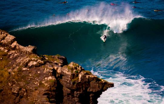 19/04/2015 Then Cliffs of Moher, County Clare today was a have of activity as some of the countries and the worlds top big wave suffers took on the world famous