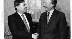 Fear and unease: John O'Leary (left) was never included in Haughey's inner circle.