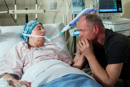 Fair City - Pete breaks as Dolores is given the last rights