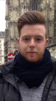 Eoghan Culligan (21) who died in the Berkeley balcony tragedy.