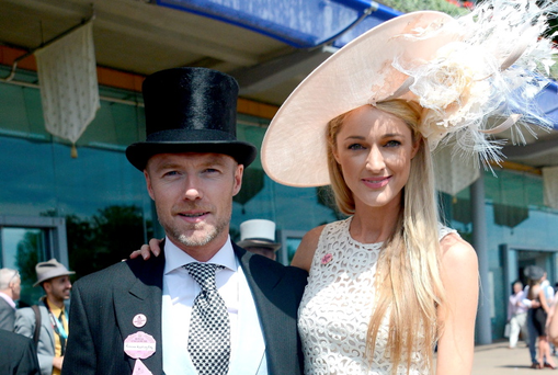 Ronan Keating and Storm Uechtritz attend day three of Royal Ascot at Ascot Racecourse on June 18, 2015 in Ascot, England. (Photo by Kirstin Sinclair/Getty Images for Ascot Racecourse)
