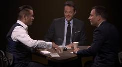 Colin Farrell and Vince Vaughn on air with Jimmy Fallon