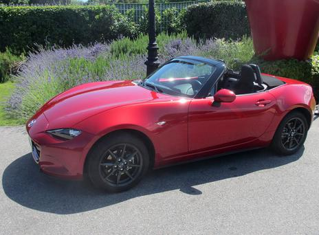 The new Mazda MX-5 at its launch this week in Nice.