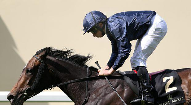 Ryan Moore rides Curvy to victory in the 15.40 Ribblesdale Stakes