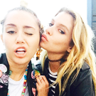Miley Cyrus and Stella Maxwell. Photo: Instagram/MileyCyrus