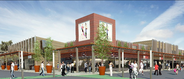 An artist's impression of the revamped Stillorgan shopping centre.