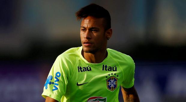 Brazilian Neymar in training