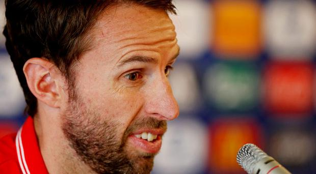 England U21 manager Gareth Southgate during the press conference Action Images via Reuters / Carl Recine Livepic