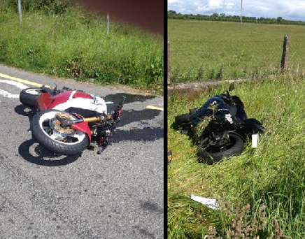 Two motorcyclists were involved in the collision. Photo: Twitter/ @GardaTraffic