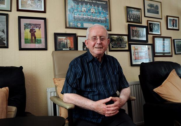 Former kitman for Republic of Ireland Soccer team Charlie O'Leary, at his home in Artane, Dublin. Photo: Caroline Quinn