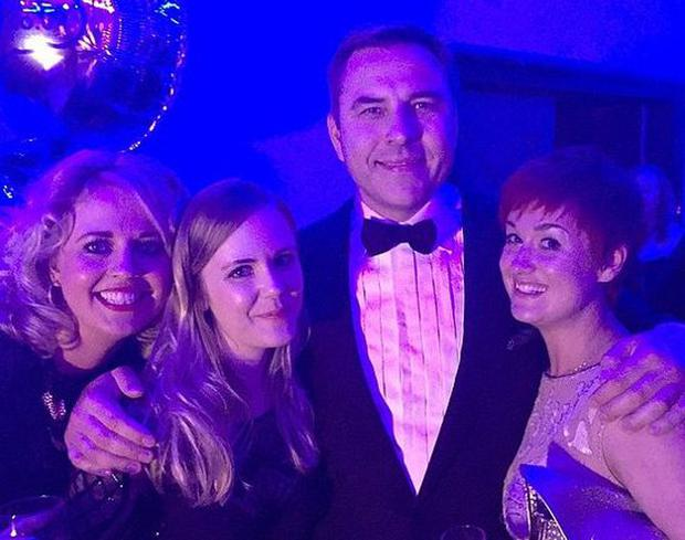 David Walliams was spotted without his wedding ring for the first time. Photo Instagram: Sophy Victoria