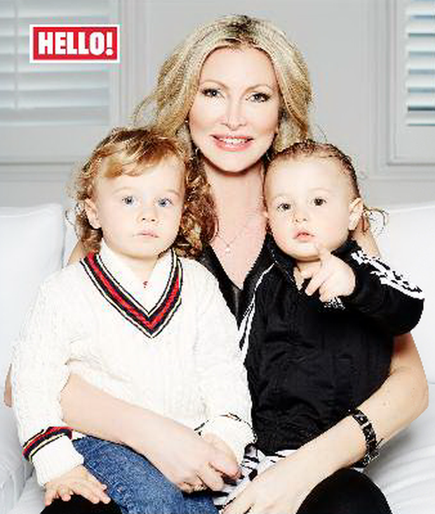 Caprice told Hello! magazine that most people assume her two boys are twins.