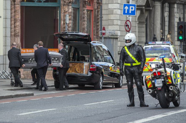 The remains of Olivia Burke arrive home from San Francisco. She will be reposing at Fanagan's Funeral Home, Aungier Street tomorrow evening. Photo: Mark Condren
