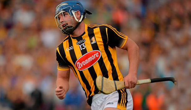Ger Aylward celebrates after scoring Kilkenny's fourth goal. Photo: Sportsfile