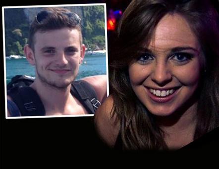 Jack Halpin and Clodagh Cogley, two of the seven Irish students seriously injured in Berkeley
