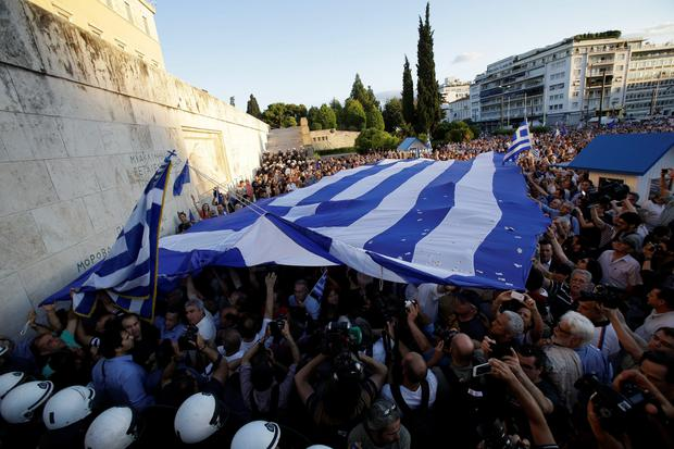 Confidence has drained away in Greece. The banks are losing deposits and the economy is back in deep recession