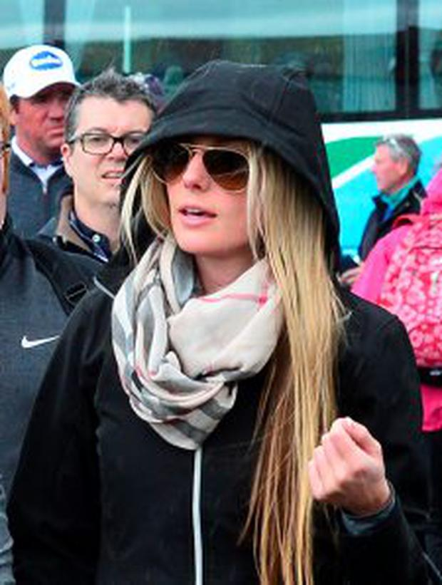 Erica Stoll girlfriend of Rory McIlroy of Northern Ireland arrives at the course with her golfer boyfriend during the fourth round of the Dubai Duty Free Irish Open hosted by the Rory Foundation at Royal County Down Golf Club on May 31, 2015 in Newcastle, Northern Ireland. (Photo by Mark Runnacles/Getty Images)
