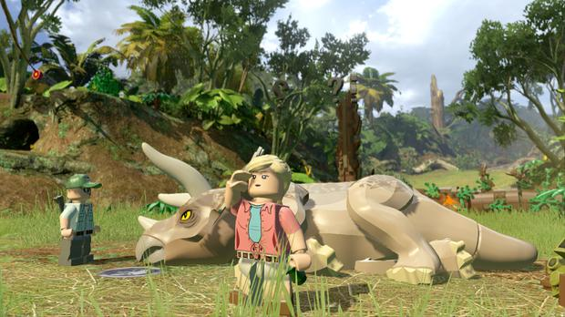 Lego Jurassic World: Gentle puzzles such as this one involve finding plants to cure sick dinos