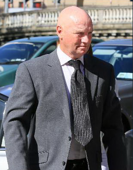 David Speedie pictured leaving the Four Courts Photo: Courts Collins