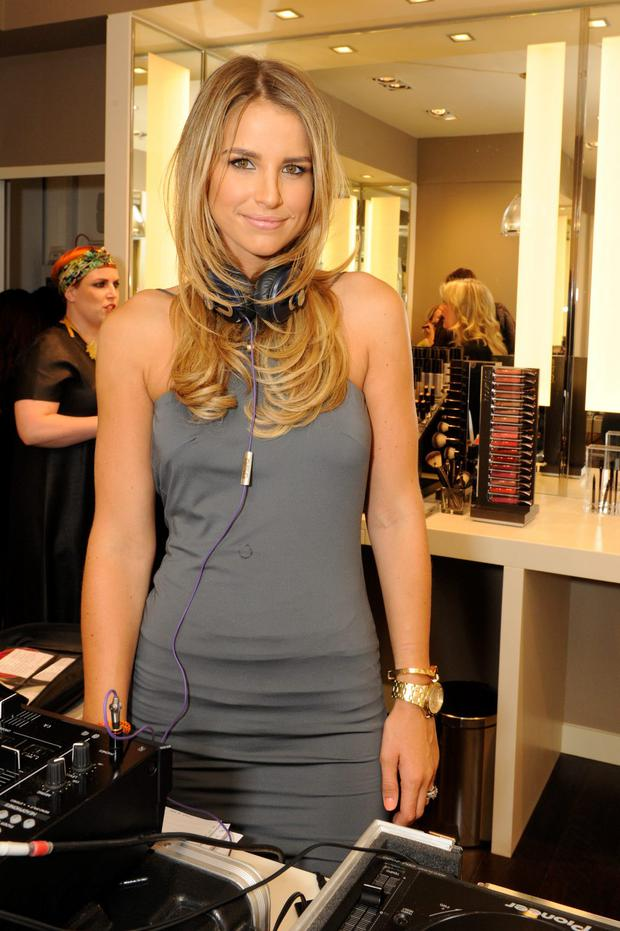 Vogue Williams DJs at the Space NK Grafton Street launch party on June 19, 2014 in Dublin, Ireland. (Photo by Clodagh Kilcoyne/Getty Images for Space NK)