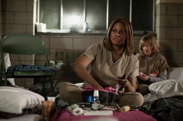 "Laverne Cox in a scene from Netflix's ""Orange is the New Black"" Season 2. Photo credit: JoJo Whilden for Netflix."