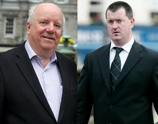 Fine Gael TD Joe O'Reilly, left, and killer Joe O'Reilly, right.