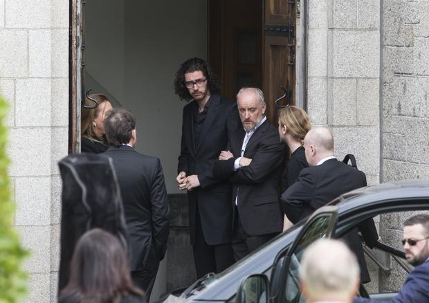 Hozier at the funeral Mass for Olivia Burke at Our Lady of Perpetual Succour, Foxrock. Pic:Mark Condren