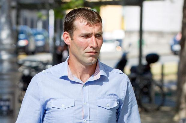 Garda Brendan Phillips at Dublin District Cout. Photo: Court Collins