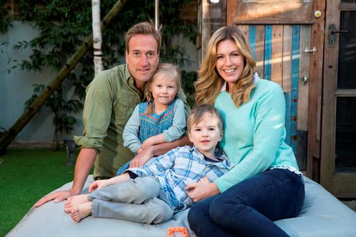 Ben and Marina Fogle with their children Iona (4) and Ludo (5) .