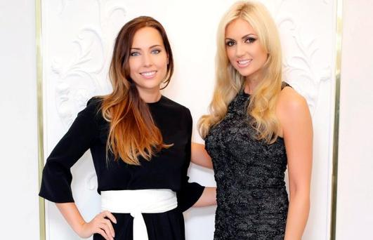 Pictured at the launch of the new Lya Solis boutique in Powerscourt Town House Centre were Lya Solis and Rosanna Davison. The store is home to Lya Solis' new Autumn/Winter collection. Pic: Marc O'Sullivan