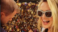Aoibhin Garrihy and fiance John Burke in Paris. Picture: Twitter