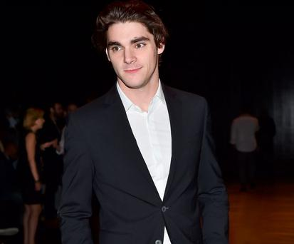 RJ Mitte attends the Fendi show during the Milan Men's Fashion Week Spring/Summer 2016 on June 22, 2015 in Milan, Italy. (Photo by Jacopo Raule/Getty Images for Fendi)