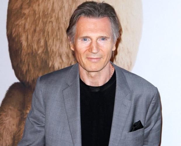 Liam Neeson goes full silver fox with grey hair at Ted 2 ...