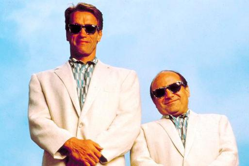 Arnold Schwarzenegger and Danny DeVito in Twins
