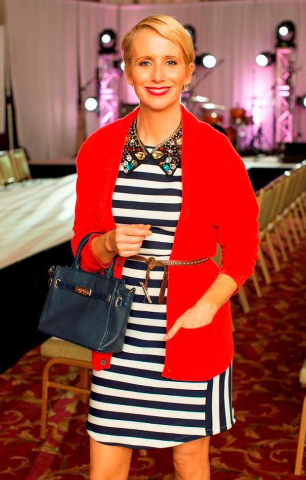 Aisling O'Loughlin pictured at luxury designer Lya Solis's pre autumn / winter 2015 fashion show, which took place on Wednesday, 24th June in the beautiful surrounds of the Banking Hall in the Westin hotel – the show was hosted by television presenter Kathryn Thomas. Photo: Anthony Woods.